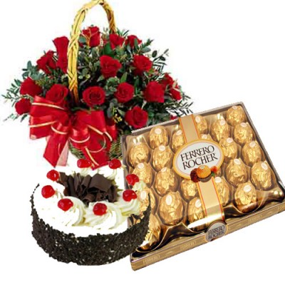 Deliver Online Mother's Day Flowers n Cakes to hyderabad