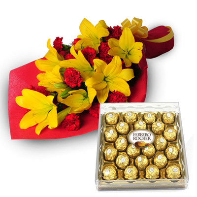 Deliver Mother's Day Flowers and Cakes to hyderabad